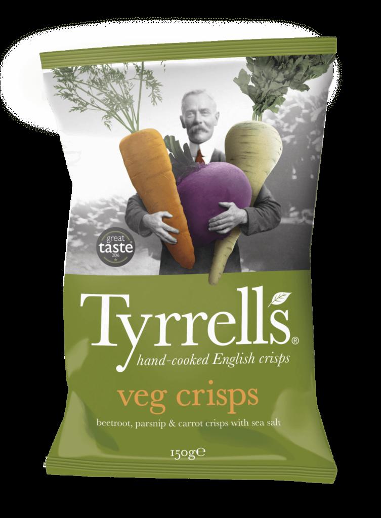 Chips de légumes oubliés